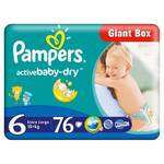 Plienky Pampers Active Baby Active Baby vel. 6, 76 ks