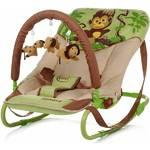 Lehátko detské 4Baby Jungle monkey hnědo/zelené zelené/hnedé