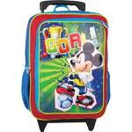 Batoh detský Sun Ce na kolečkách Disney Mickey červený/modrý/zelený