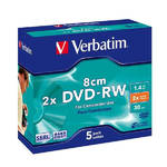 Disk Verbatim DVD-RW 1.4GB, 2x, 8cm, jewel box, 5ks (43514)