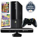 Herná konzola Microsoft Xbox 360 4GB SVB + 2 x hra (Kinect Sports Ultimate + Kinect Adventures) (N7V-00113) čierna