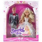 Bábika Alltoys Sparkle Girlz nevěsta se ženichem