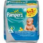 Obrúsky čistiace Pampers Baby Fresh, 6 x 64 ks