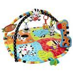 Hracia deka s hrazdou Bright Starts Stars Spots & Stripes Safari Gym™ červená/modrá/zelená/oranžová