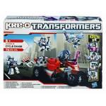 Stavebnica Hasbro KRE-O Transformers s motocyklem a raketometem