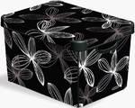 Box úložný  Curver Black Lily 04710-D66, vel. S čierny/biely