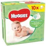 Obrúsky čistiace Huggies Natural Care 10 x 56ks