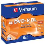 Disk Verbatim DVD-R DualLayer, 8.5GB, 4x, jewel box, 5ks (43543)
