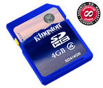 Pamov karta Kingston SDHC 4GB Class4 (SD4/4GB)
