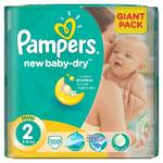 Plienky Pampers New Baby-dry vel.2 Mini, 100ks