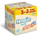 Obrúsky čistiace Huggies Pure 3+3 Gratis (64x6)