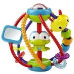 Náučná hračka Bright Starts Clack & Slide Activity Ball™ červená/modrá/žltá/zelená