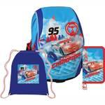 Školský set Sun Ce Disney Cars - batoh, penál, sáček červený/modrý