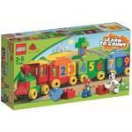 Stavebnica Lego DUPLO Kostičky 10558 Vláček plný čísel