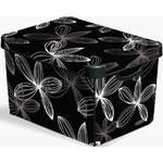 Box úložný  Curver Black Lily 04711-D66, vel. L čierny/biely
