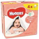 Obrúsky čistiace Huggies QUATRO Pack Soft Skin 4x56ks
