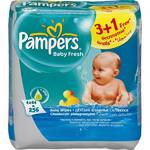 Obrúsky čistiace Pampers Baby Fresh, 4 x 64 ks