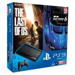 Herná konzola Sony PlayStation 3 500GB + hra Gran Turismo 6 + hra The Last of Us (PS719250784) čierna