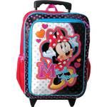 Batoh detský Sun Ce na kolečkách Disney Minnie čierny/ružový
