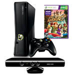 Hern konzola Microsoft Xbox 360 250GB Kinect + Kinect Adventures (S7G-00033) ierna