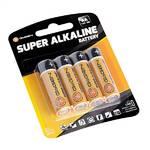 Batéria alkalická GoGEN SUPER ALKALINE AA, LR06, blistr 4ks čierna/oranžová