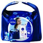 Darčekový balíček Nivea Milk (sprchový gel, tělové mléko do sprchy, antiperspirant)