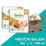 Plienky Pampers Premium Care POME box, S1 88ks + S2 80ks