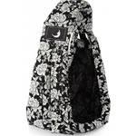 Nosič dieťaťa theBabaSling 2-15 kg Rococo Midnight Black (100% bavlna)