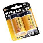 Batéria alkalická GoGEN SUPER ALKALINE D, LR20, blistr 2ks čierna/oranžová
