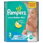 Plienky Pampers Active Baby-dry vel.3 Midi, 90ks