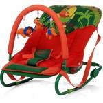 Lehátko detské 4Baby Jungle parrot zeleno/oranžové zelené/oranžové