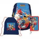 Školský set Sun Ce Disney Planes - batoh, penál, sáček červený/modrý/žltý