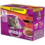 Kapsička Whiskas Masový výběr ve šťávě BONUS 12pack