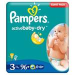 Plienky Pampers Active Baby Active Baby vel. 3, 96 ks