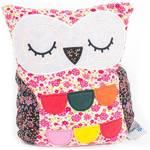 Plyšová hračka Albi Hooty - sova patchwork spící