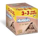 Obrúsky čistiace Huggies Soft Skin 3+3 Gratis (64x6)