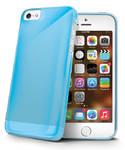 Kryt na mobil Celly Gelskin pro Apple iPhone 5 (GELSKIN185LB) modrý