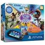 Herná konzola Sony PS VITA WiFi + Tearaway, Uncharted: Golden Abyss, LBP Marvel Super Heroes, When Viking Attack + 8GB pam. karta (PS719833444) čierna