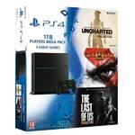 Herná konzola Sony PlayStation 4 1TB + Uncharted Collection + The Last of Us + God of War 3_Předobjednávka_ 1.12.2015 (PS719874744)