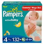 Plienky Pampers Active baby Mega box 4 Maxi 132 ks