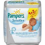 Obrsky Pampers Ubrousky Pampers Sensitive, 6 x 56 ks