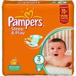 Plienky Pampers Sleep&amp;Play Giant pack 3 Midi, 100 ks