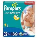 Plienky Pampers Active Baby ActiveBaby-dry 3 MIDI 186ks