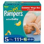 Plienky Pampers Active baby Mega box 5 Junior 111 ks