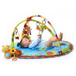 Hracia deka s hrazdou Tiny Love Gymini® MY NATURE PALS modrá/zelená/ružová/oranžová