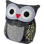 Plyšová hračka Albi Hooty - sova patchwork fialová