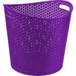 Kôš na prádlo Curver Rattan Y style 30 l fialový