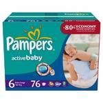 Plienky Pampers Active Baby Active Baby vel. 6, 76 ks