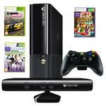 Herná konzola Microsoft Xbox 360 500GB + Kinect senzor + hra Forza Horizon + hra Kinect sports 1 + hra Kinect Adventures (3MN-00003) čierna