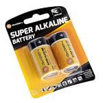 Batéria alkalická GoGEN SUPER ALKALINE C, LR14, blistr 2ks čierna/oranžová